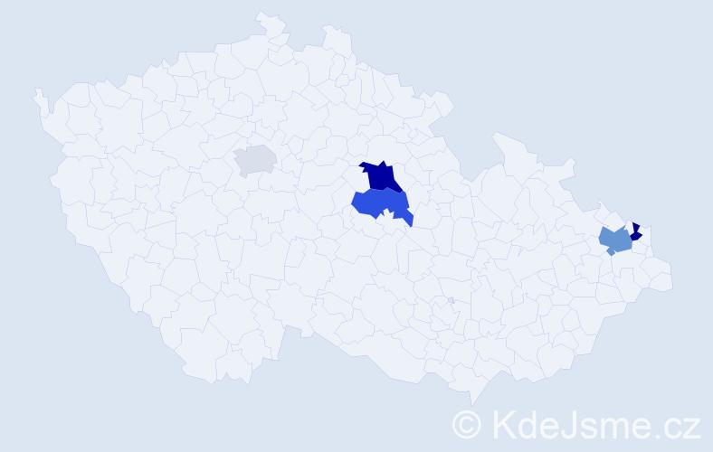 Příjmení: 'Halatková', počet výskytů 19 v celé ČR