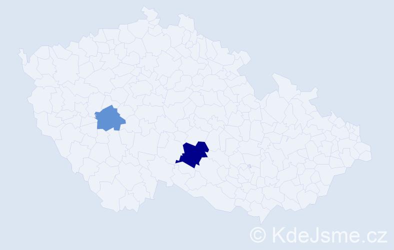 Příjmení: 'Grace', počet výskytů 4 v celé ČR