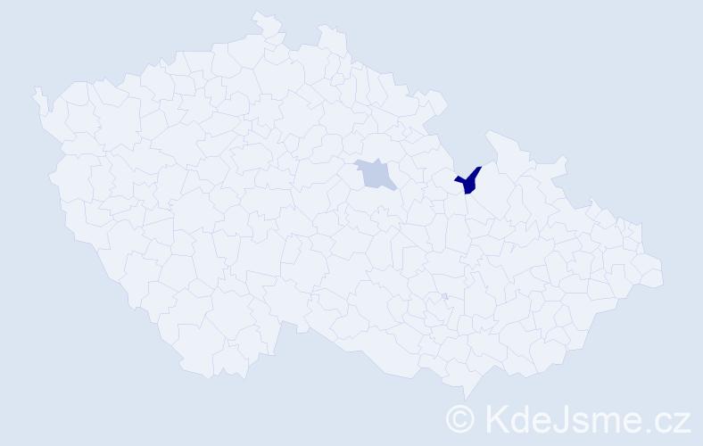 Příjmení: 'Habivský', počet výskytů 8 v celé ČR