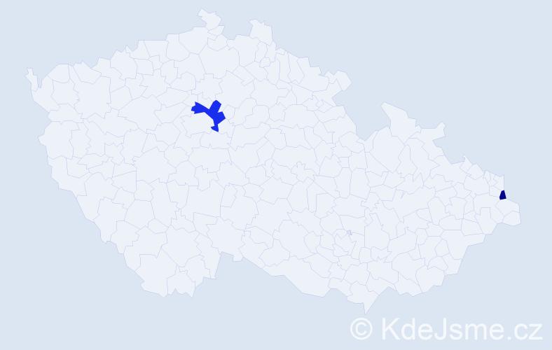 Příjmení: 'Geruth', počet výskytů 3 v celé ČR
