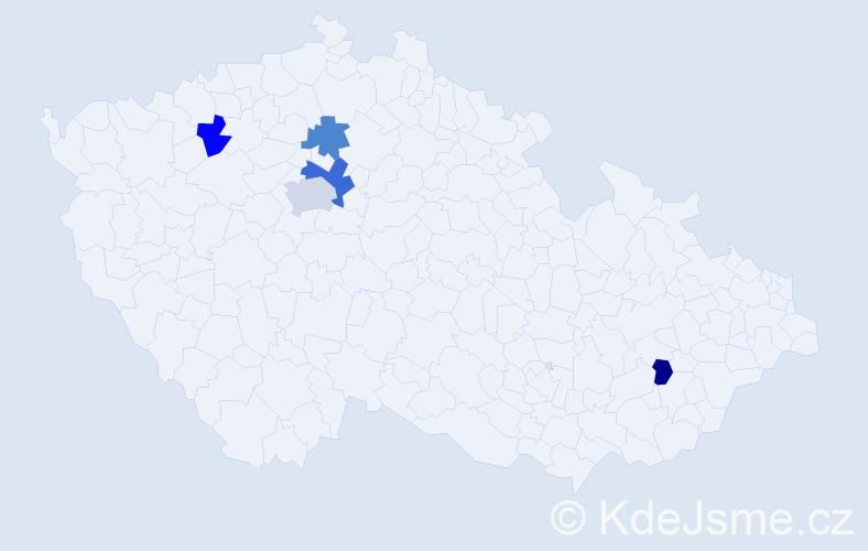 Příjmení: 'Inquort', počet výskytů 7 v celé ČR