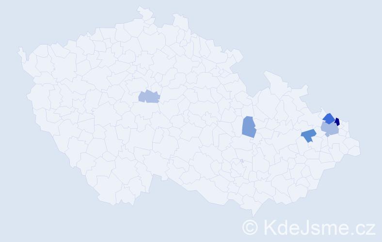Příjmení: 'Bukowski', počet výskytů 14 v celé ČR