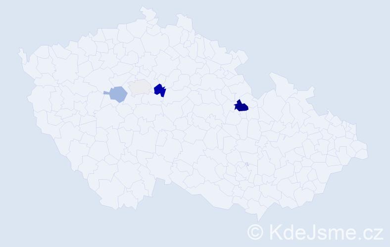Příjmení: 'Jariš', počet výskytů 7 v celé ČR