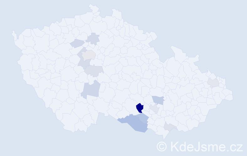 Příjmení: 'Ill', počet výskytů 31 v celé ČR