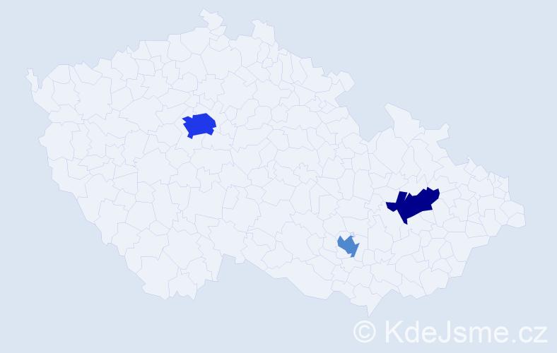 Příjmení: 'Lachsová', počet výskytů 6 v celé ČR