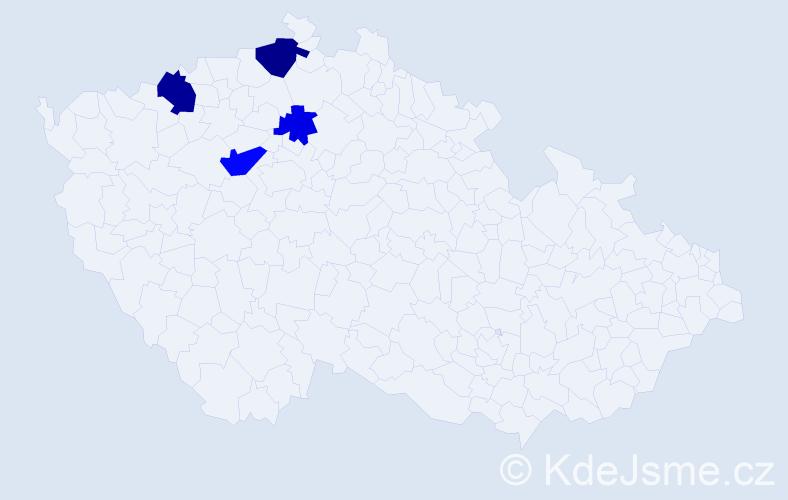 Příjmení: 'Goran', počet výskytů 7 v celé ČR