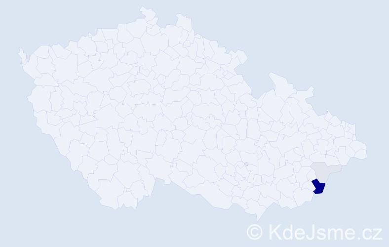 Příjmení: 'Čurečková', počet výskytů 12 v celé ČR