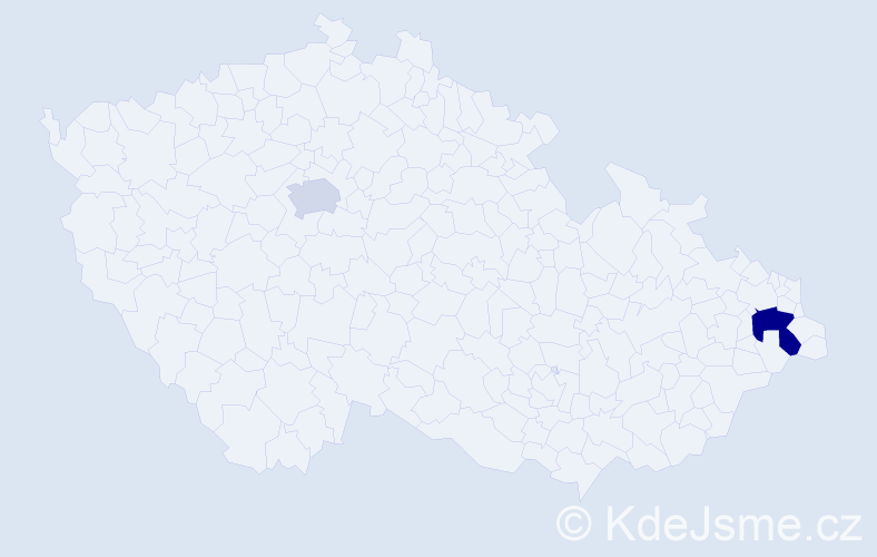 Příjmení: 'Goněcová', počet výskytů 3 v celé ČR