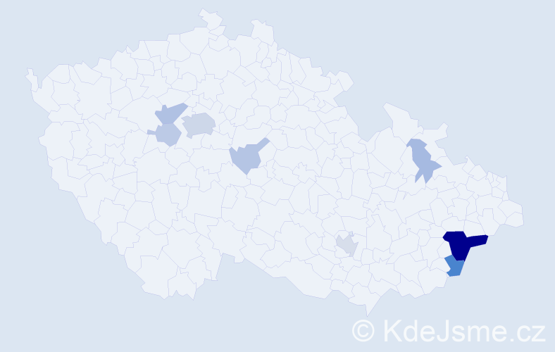 Příjmení: 'Ekart', počet výskytů 28 v celé ČR
