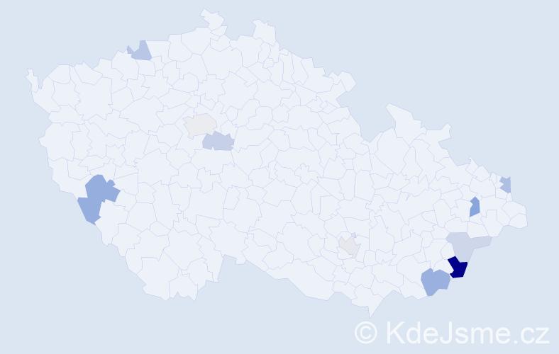 Příjmení: 'Lamačka', počet výskytů 19 v celé ČR