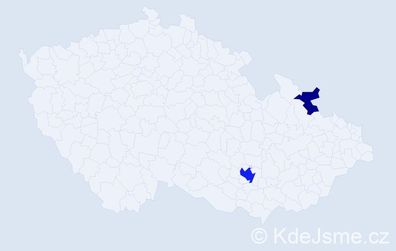 Příjmení: 'Langauf', počet výskytů 5 v celé ČR