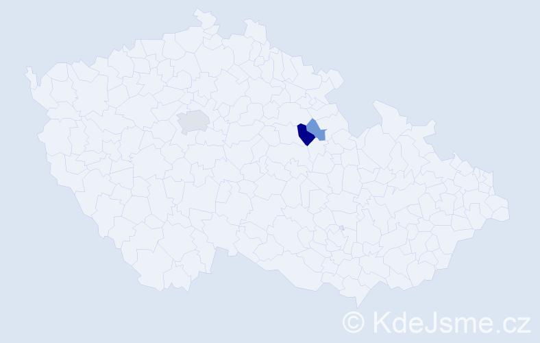 Příjmení: 'Ilchmanová', počet výskytů 6 v celé ČR