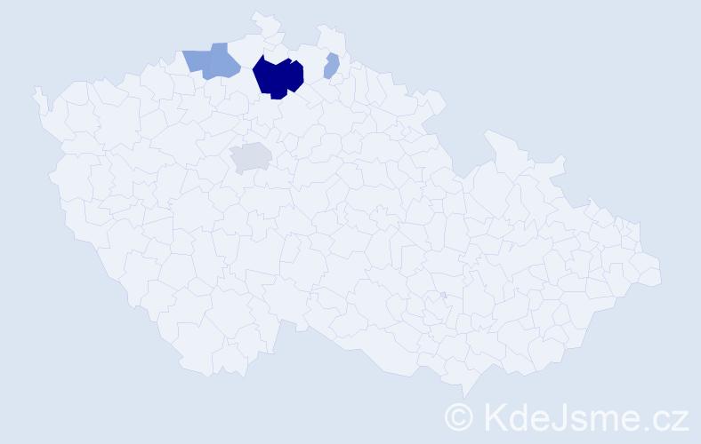 Příjmení: 'Heptner', počet výskytů 15 v celé ČR