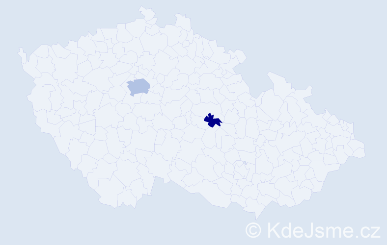 Příjmení: 'Baliamis', počet výskytů 5 v celé ČR
