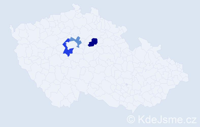 Příjmení: 'Hohlfeldová', počet výskytů 4 v celé ČR