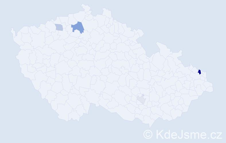 Příjmení: 'Čenkovičová', počet výskytů 8 v celé ČR