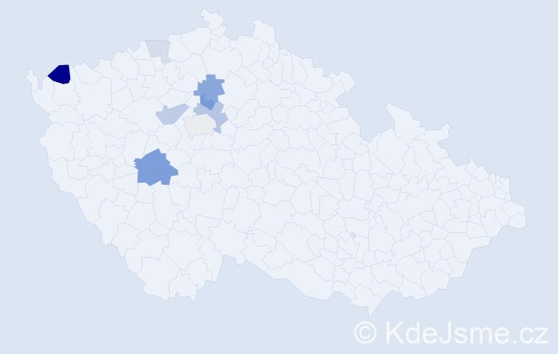 Příjmení: 'Jurčovská', počet výskytů 18 v celé ČR