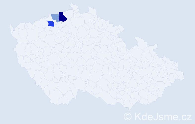 Příjmení: 'Jansche', počet výskytů 7 v celé ČR