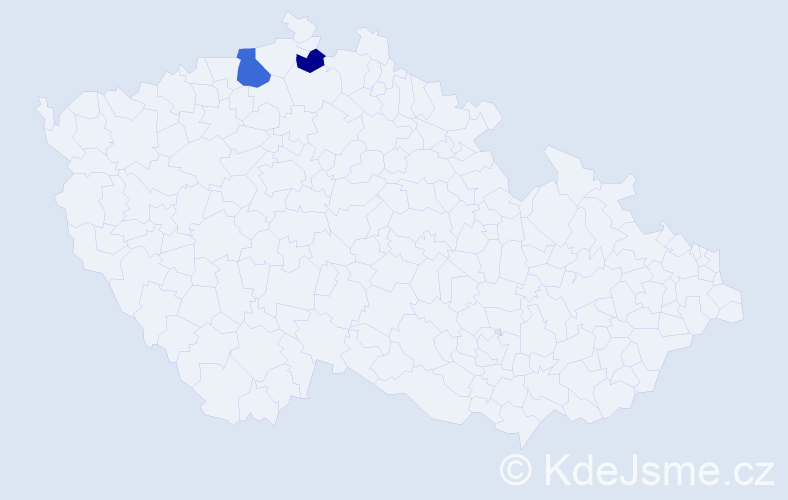 Příjmení: 'Dedulea', počet výskytů 3 v celé ČR