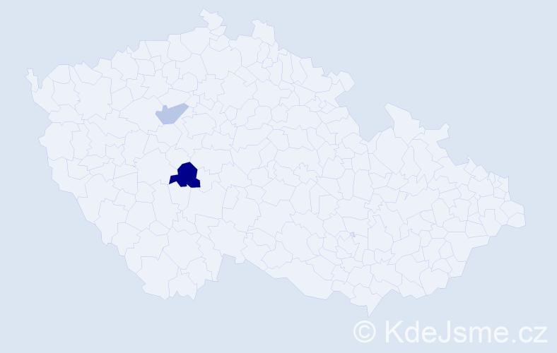 Příjmení: 'Adeogun', počet výskytů 3 v celé ČR