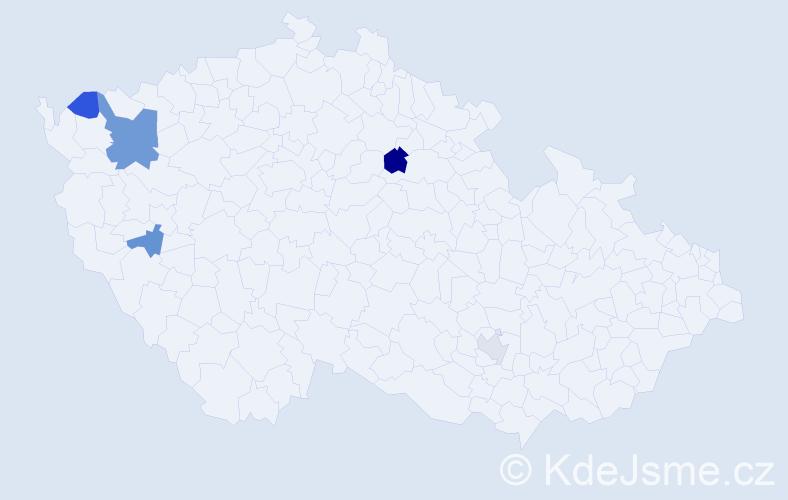 Příjmení: 'Bolješik', počet výskytů 8 v celé ČR