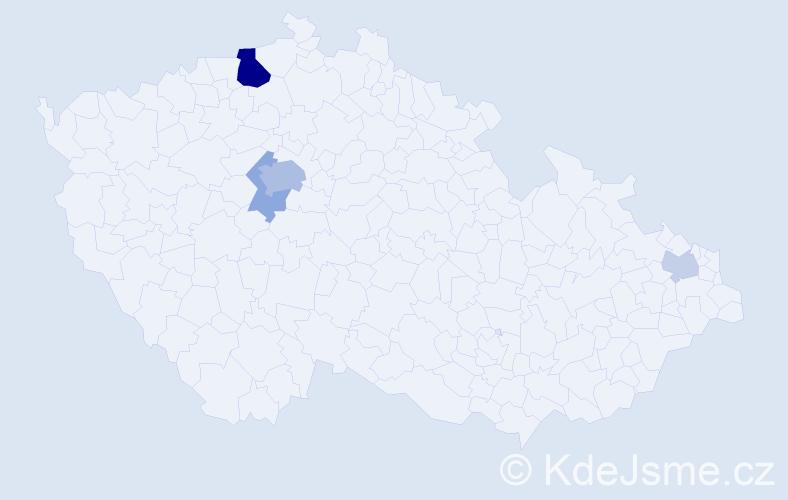 Příjmení: 'Haertlová', počet výskytů 12 v celé ČR