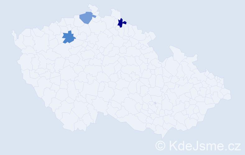Příjmení: 'Deglmannová', počet výskytů 3 v celé ČR