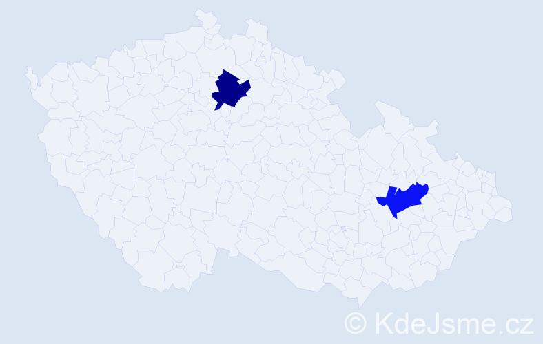 Příjmení: 'Galovská', počet výskytů 8 v celé ČR
