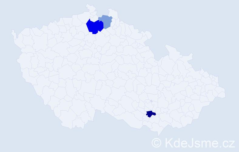 Příjmení: 'Klempiřík', počet výskytů 4 v celé ČR