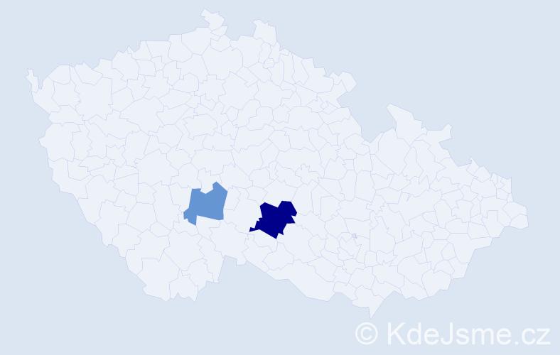 Příjmení: 'Leidemanová', počet výskytů 4 v celé ČR