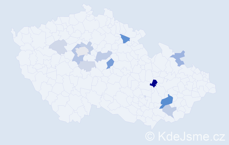 Příjmení: 'Berecz', počet výskytů 33 v celé ČR