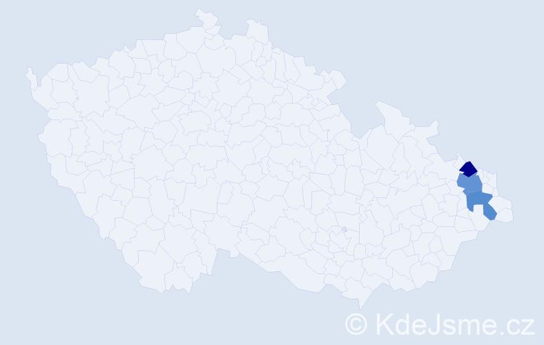 Příjmení: 'Grzychová', počet výskytů 8 v celé ČR