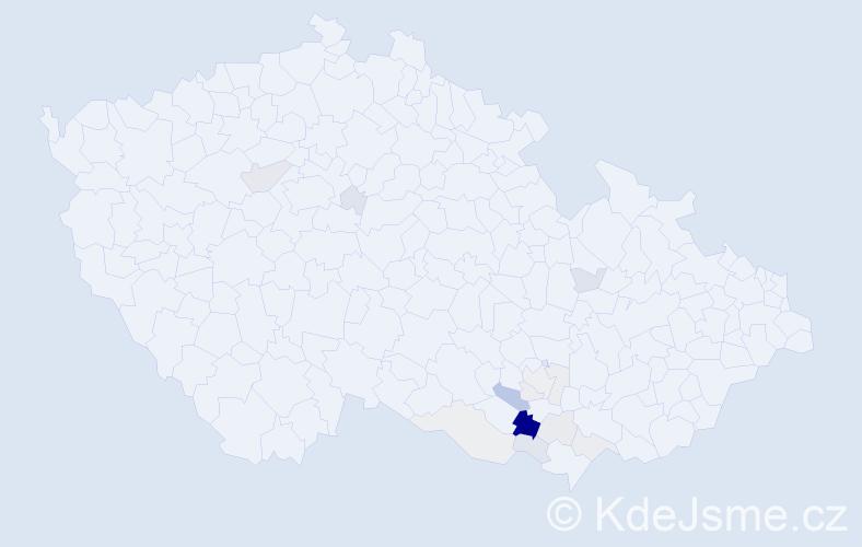 Příjmení: 'Ferbyová', počet výskytů 36 v celé ČR