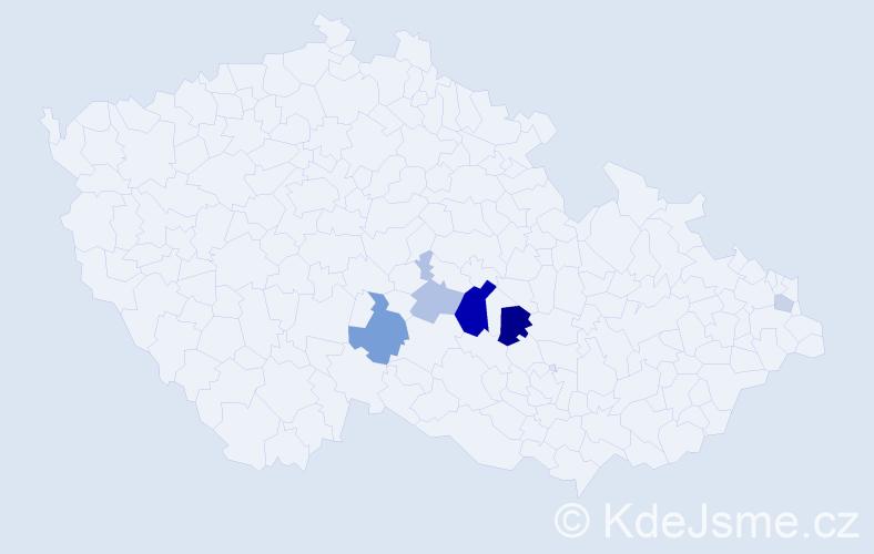 Příjmení: 'Golemba', počet výskytů 13 v celé ČR