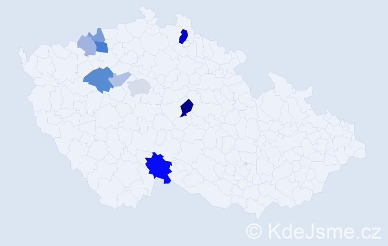 Příjmení: 'Krim', počet výskytů 20 v celé ČR