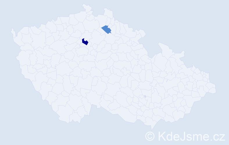 Příjmení: 'Majdanská', počet výskytů 3 v celé ČR