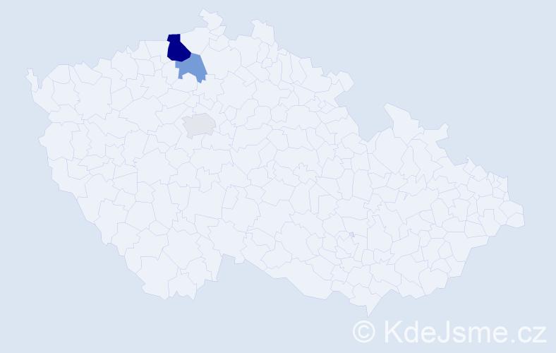 Příjmení: 'Leskota', počet výskytů 14 v celé ČR