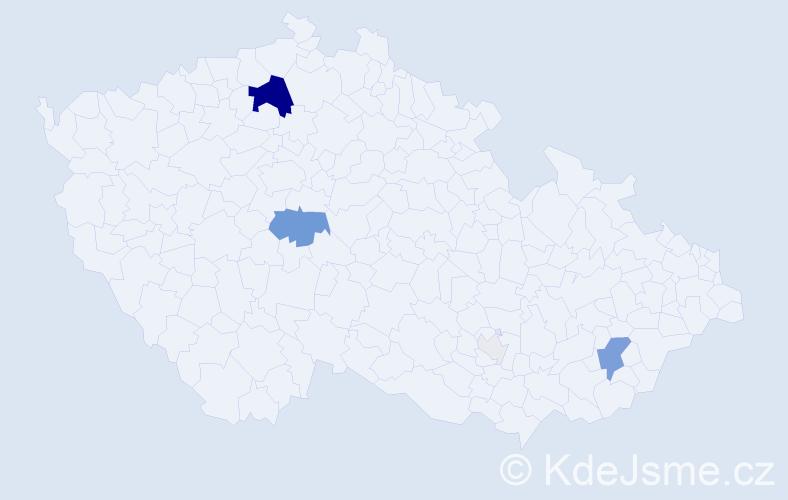 Příjmení: 'Fadlerová', počet výskytů 23 v celé ČR