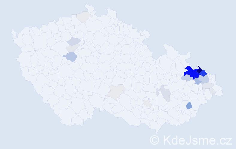 Příjmení: 'Kremser', počet výskytů 124 v celé ČR