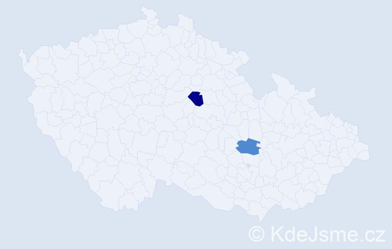 Příjmení: 'Čupak', počet výskytů 4 v celé ČR