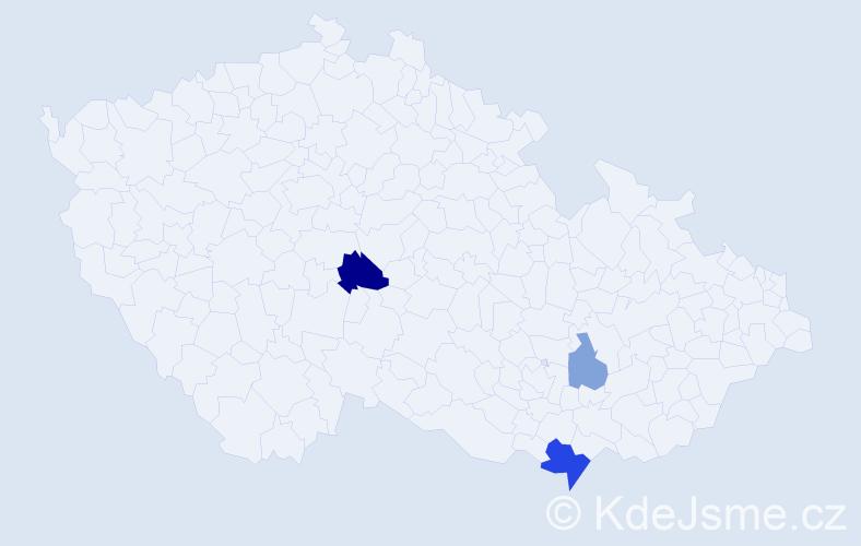 Příjmení: 'Cerková', počet výskytů 6 v celé ČR