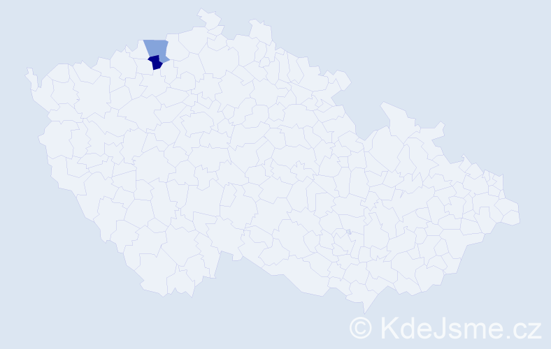 Příjmení: 'Gutschová', počet výskytů 2 v celé ČR