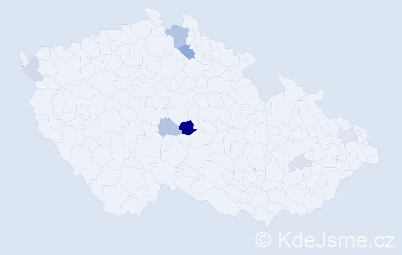 Příjmení: 'Komárovský', počet výskytů 17 v celé ČR