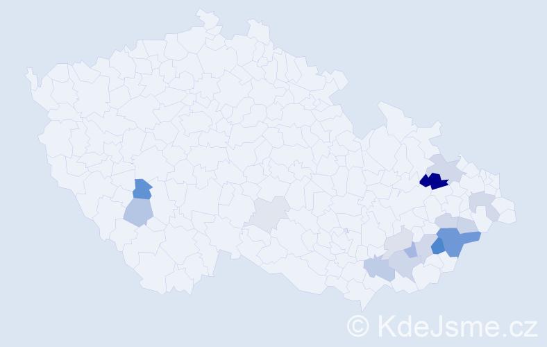 Příjmení: 'Haferníková', počet výskytů 36 v celé ČR