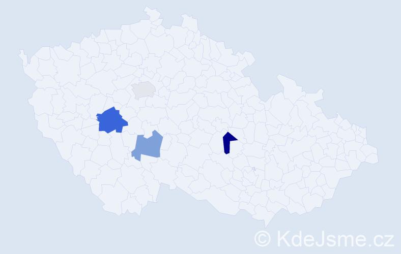 Příjmení: 'Lammer', počet výskytů 5 v celé ČR