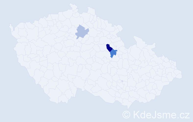 Příjmení: 'Hakkel', počet výskytů 8 v celé ČR