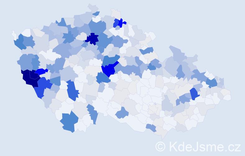 Příjmení: 'Červeňáková', počet výskytů 1907 v celé ČR