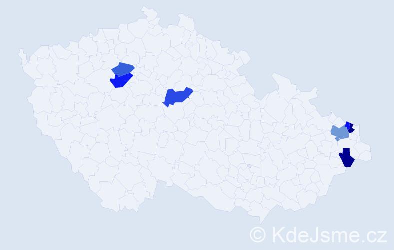 Příjmení: 'Husarik', počet výskytů 13 v celé ČR