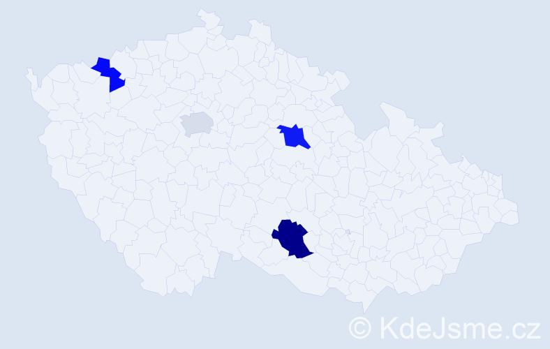 Příjmení: 'Libiak', počet výskytů 6 v celé ČR