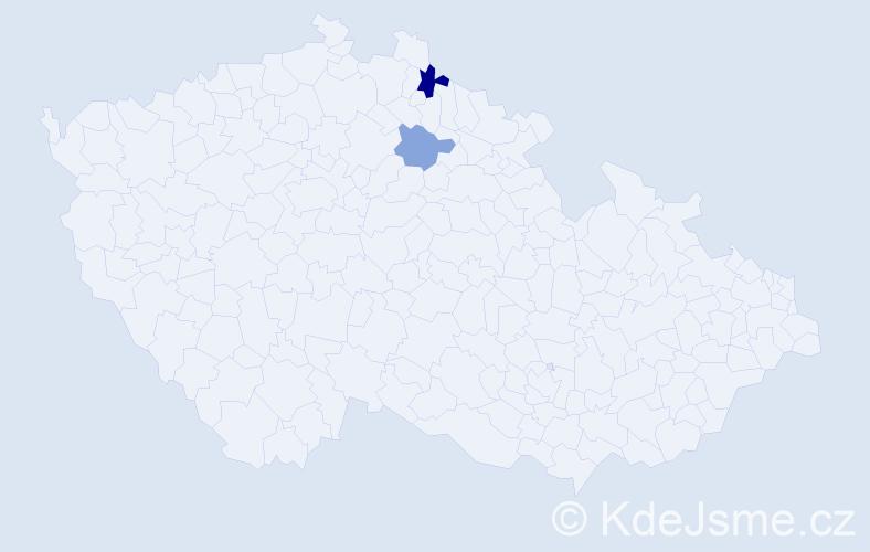 Příjmení: 'Iwanská', počet výskytů 3 v celé ČR